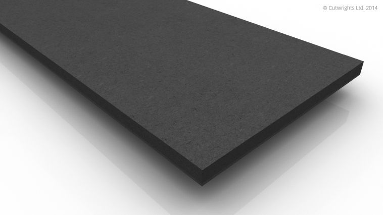10mm Black Fibracolour MDF
