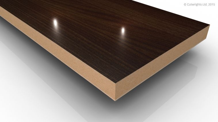 18mm Dark Elm Wood Grain Gloss Alvic LUXE MFMDF