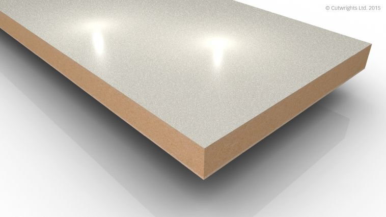 18mm Cream Pearl Metallic Gloss Alvic LUXE MFMDF