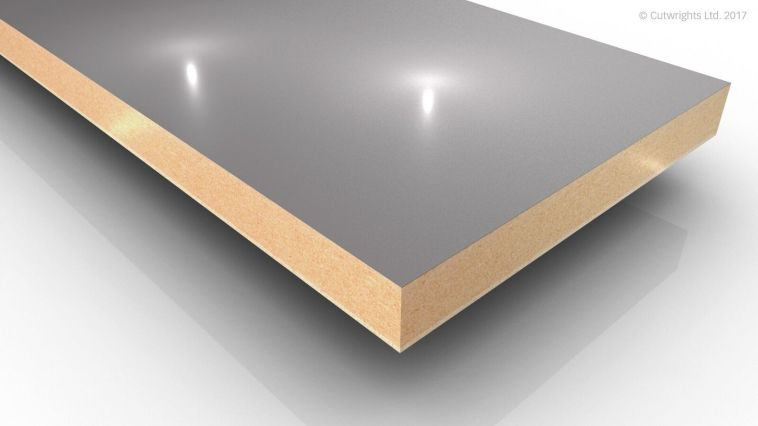 19mm Dust Grey U732 Perfect Sense GLOSS/ST2 Egger MFMDF