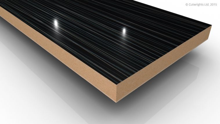 18mm Black Laser Mineral Gloss Alvic LUXE MFMDF