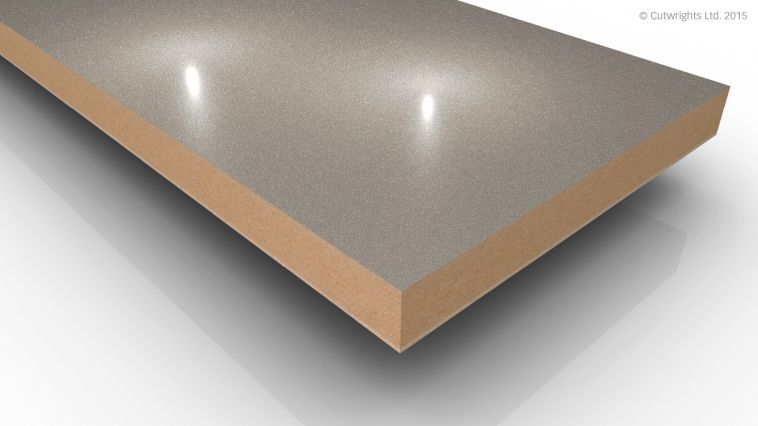 18mm Stone Grey Pearl Metallic Gloss Alvic LUXE MFMDF