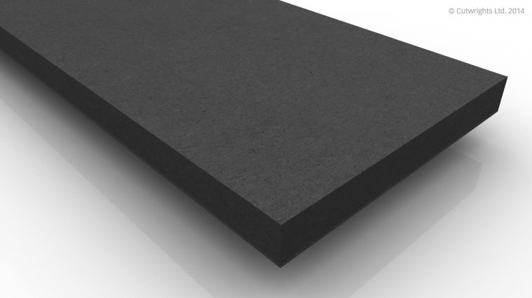 19mm Black Fibracolour MDF