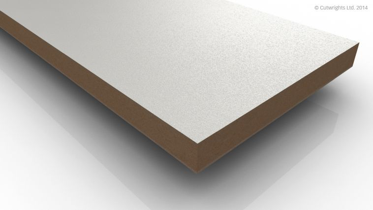 18mm White Textured K101 (PE) Kronospan MFMDF