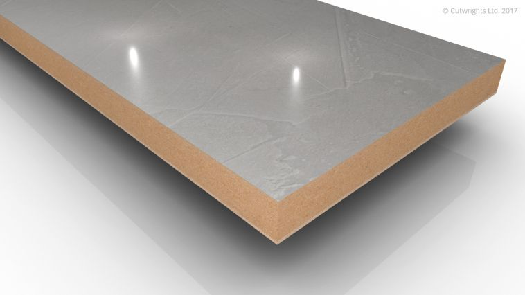 18mm Stucco Frost 2 Mineral Gloss Alvic LUXE MFMDF