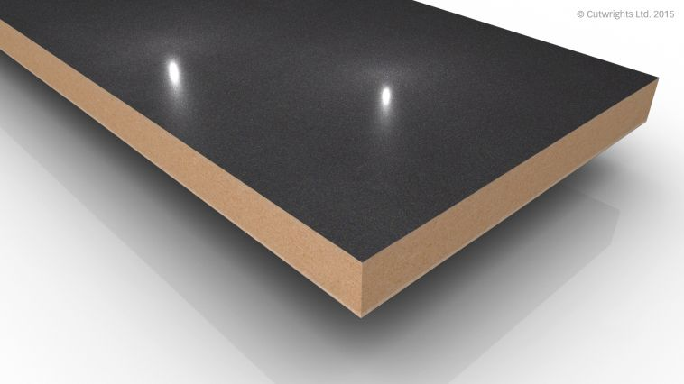 18mm Anthracite Pearl Metallic Gloss Alvic LUXE MFMDF