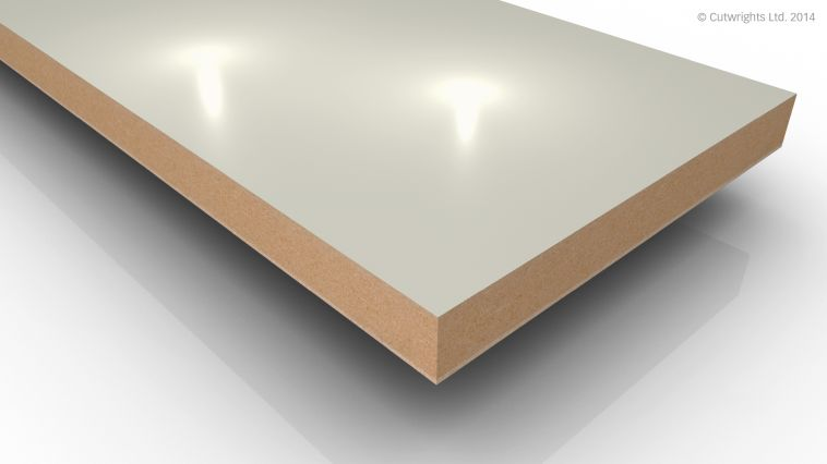 18mm Cream Gloss Alvic LUXE MFMDF