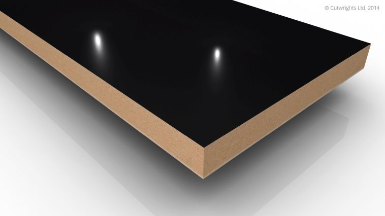 18mm Black Gloss Alvic LUXE MFMDF