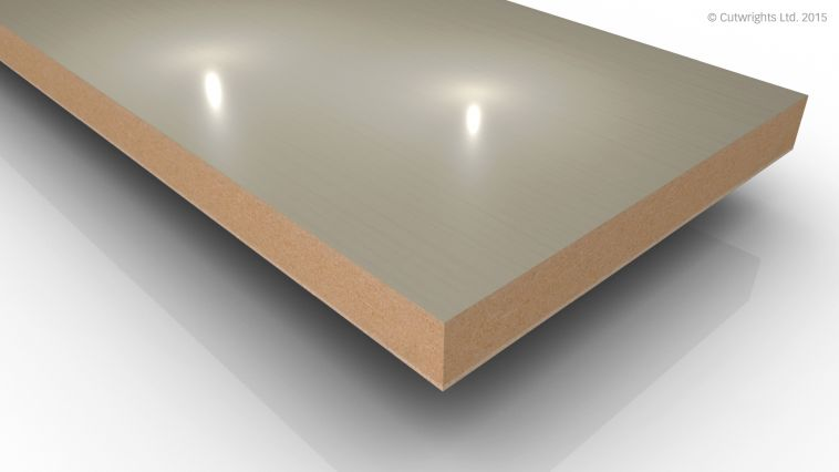 18mm White Laser Mineral Gloss Alvic LUXE MFMDF