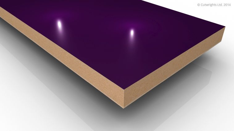 18mm Violet Gloss Alvic LUXE MFMDF