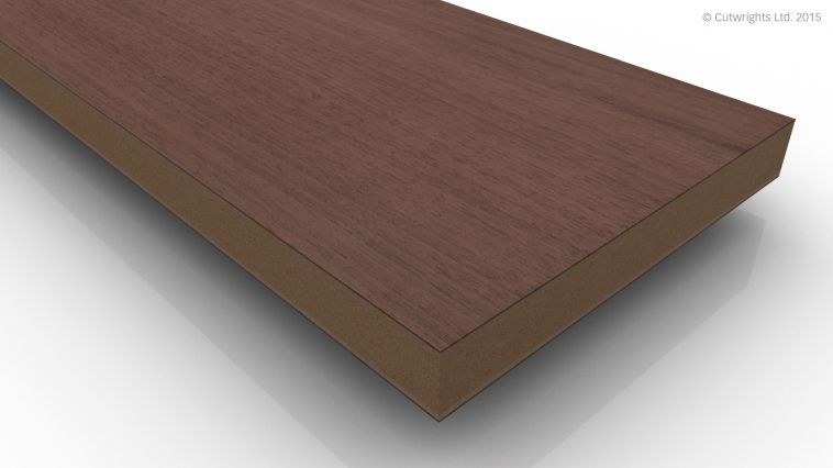 19mm Black Walnut CC/Black Walnut A/B VMDF