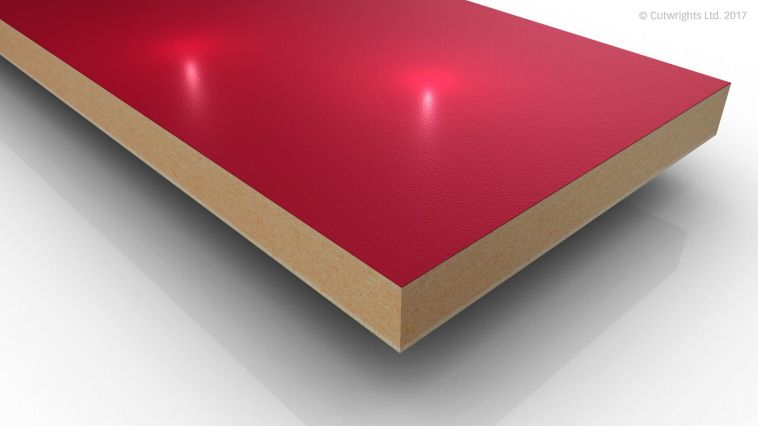 19mm Chilli Red U323 Perfect Sense GLOSS/ST2 Egger MFMDF