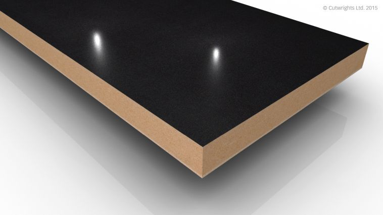 18mm Black Pearl Metallic Gloss Alvic LUXE MFMDF