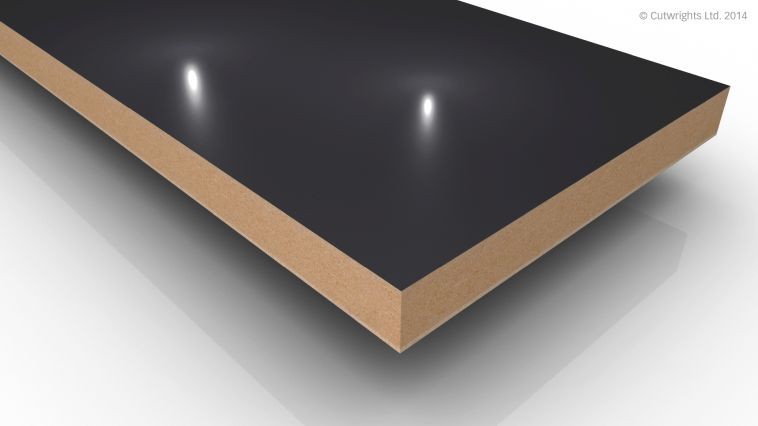 18mm Anthracite Gloss Alvic LUXE MFMDF
