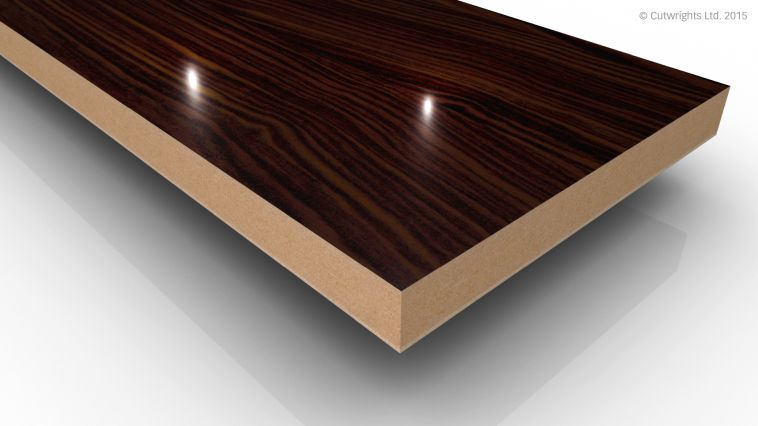 18mm Makassar Wood Grain Gloss Alvic LUXE MFMDF
