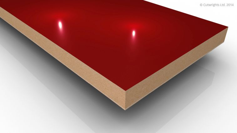18mm Red Gloss Alvic LUXE MFMDF