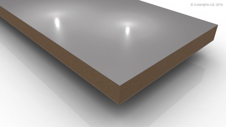 19mm Gloss Light Grey 85336 / Silver Galtee MDF