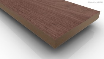 Veneered board